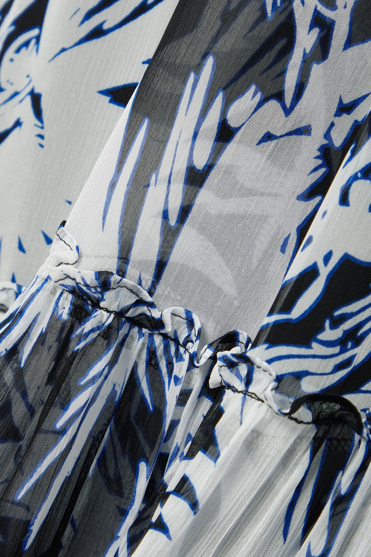 Diane von Furstenberg Monica Maxikleid aus bedrucktem Chiffon aus einer Baumwoll-Seidenmischung