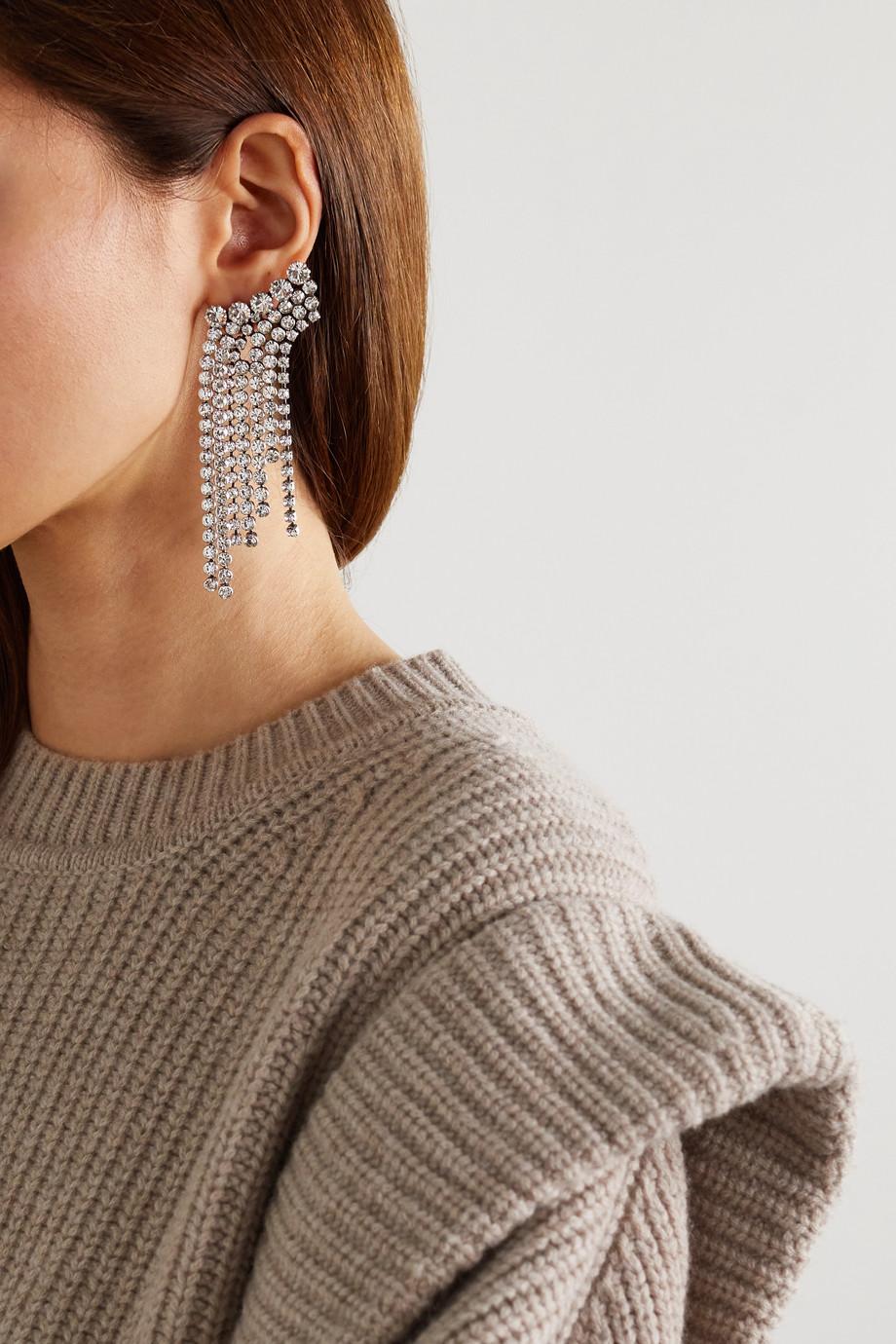 Isabel Marant Boucles d'oreilles en métal argenté et cristaux