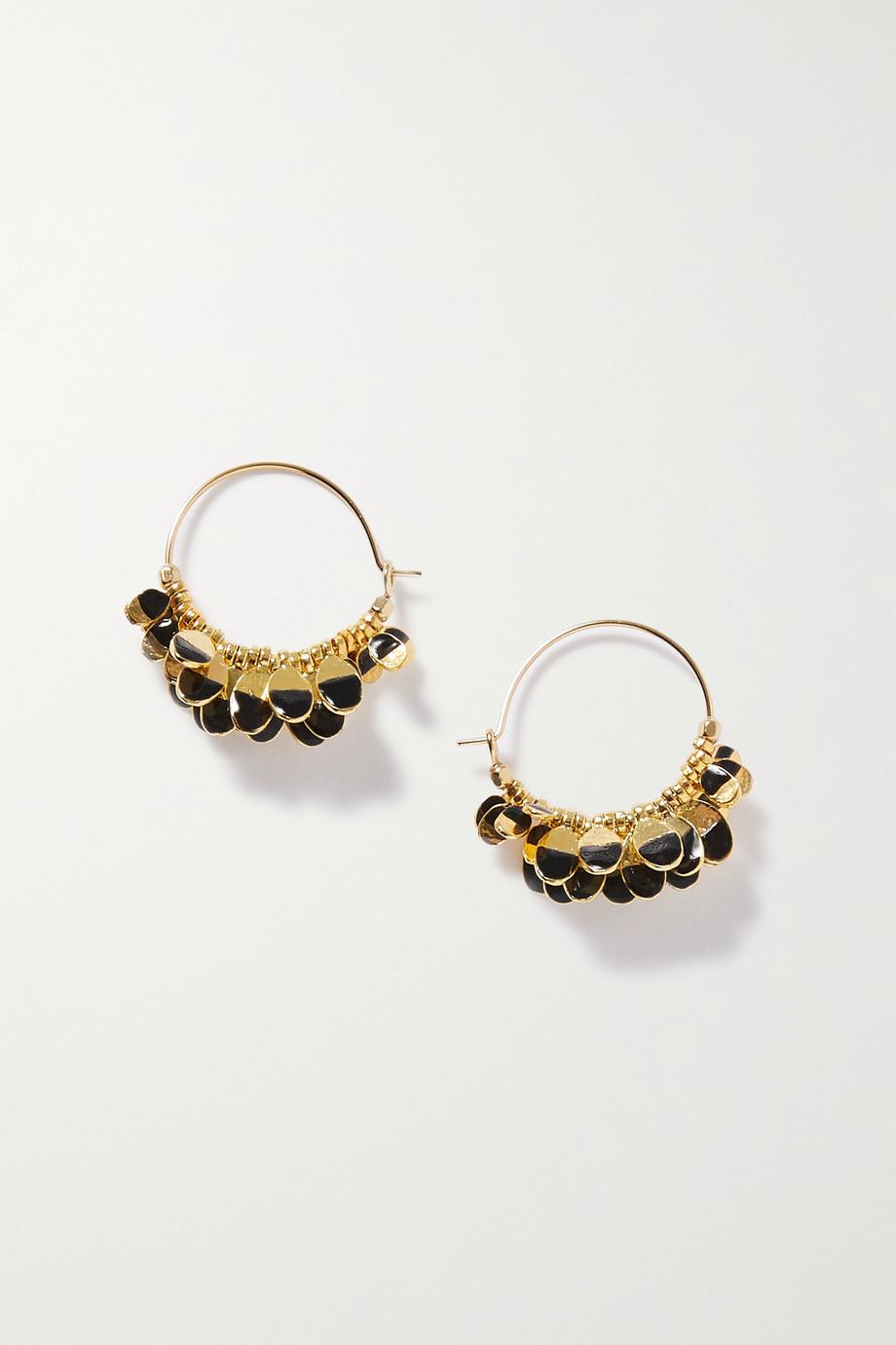 Isabel Marant Boucles d'oreilles en métal doré et résine