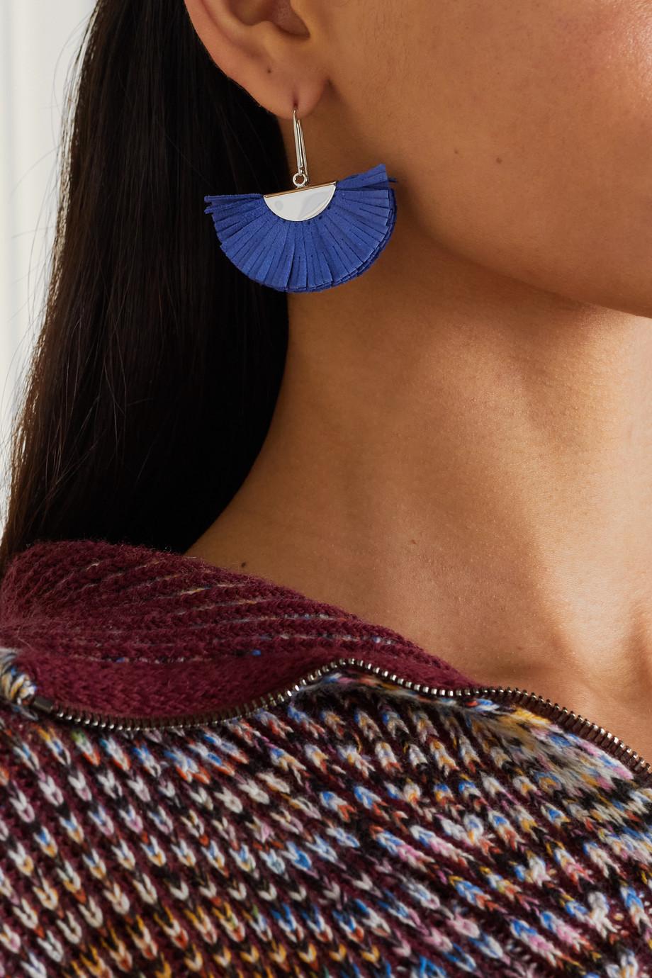 Isabel Marant Boucles d'oreilles en métal argenté et daim