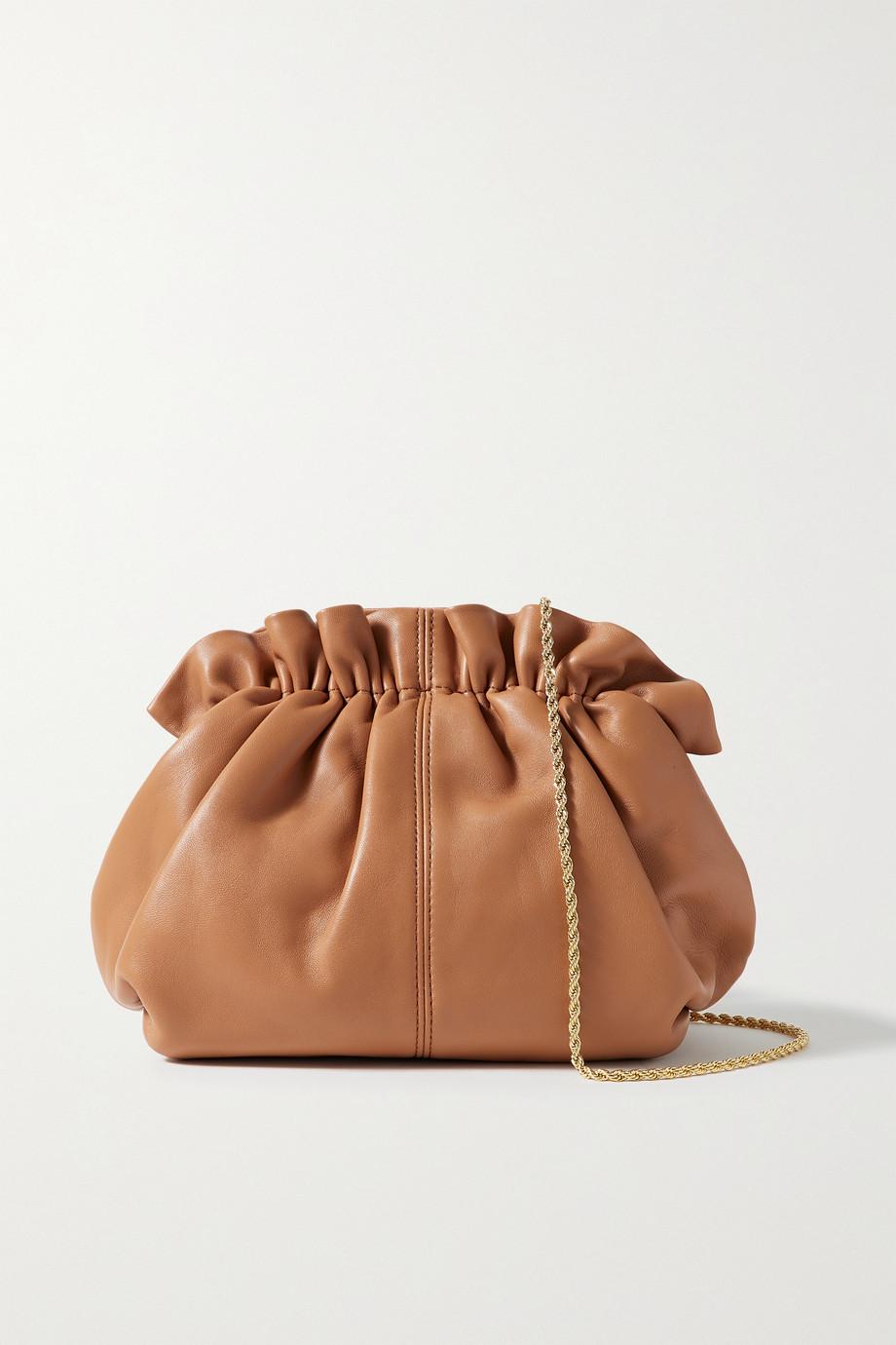 Loeffler Randall Willa mini ruched leather clutch