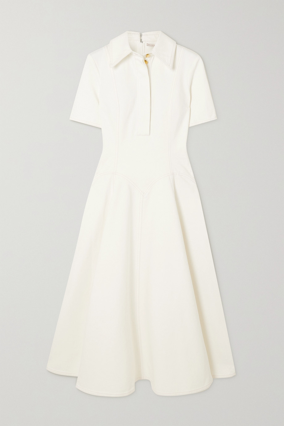 Emilia Wickstead Jody Hemdblusenkleid aus Denim