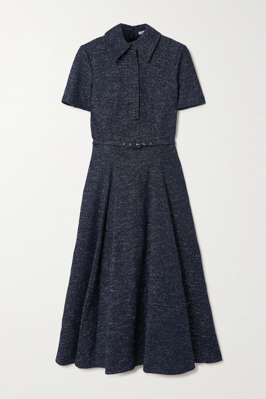 Emilia Wickstead Jody Midi-Hemdblusenkleid aus Denim mit Gürtel