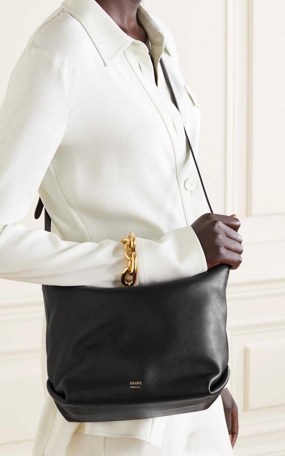 Khaite Frances leather shoulder bag