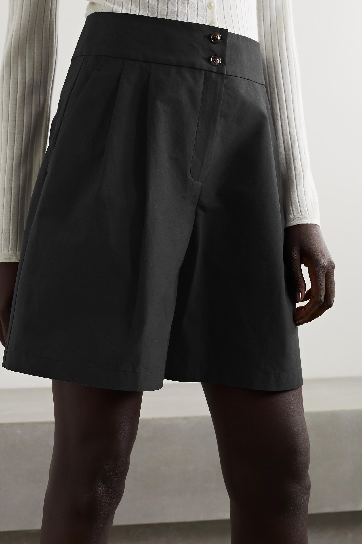 Lafayette 148 Leroy Shorts aus Baumwollpopeline mit Falten