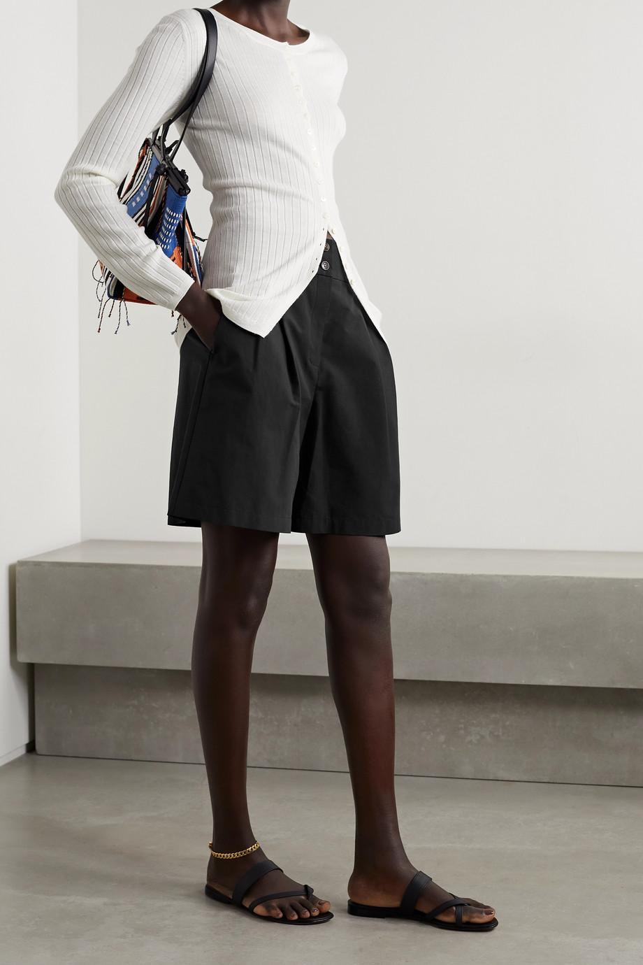 Lafayette 148 Short en popeline de coton à plis Leroy