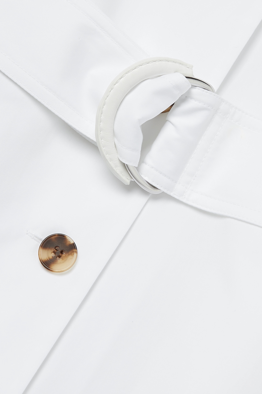 Lafayette 148 Orion Midi-Hemdblusenkleid aus Baumwollpopeline mit Gürtel