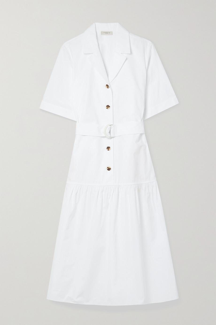 Lafayette 148 Robe-chemise midi en popeline de coton à ceinture Orion