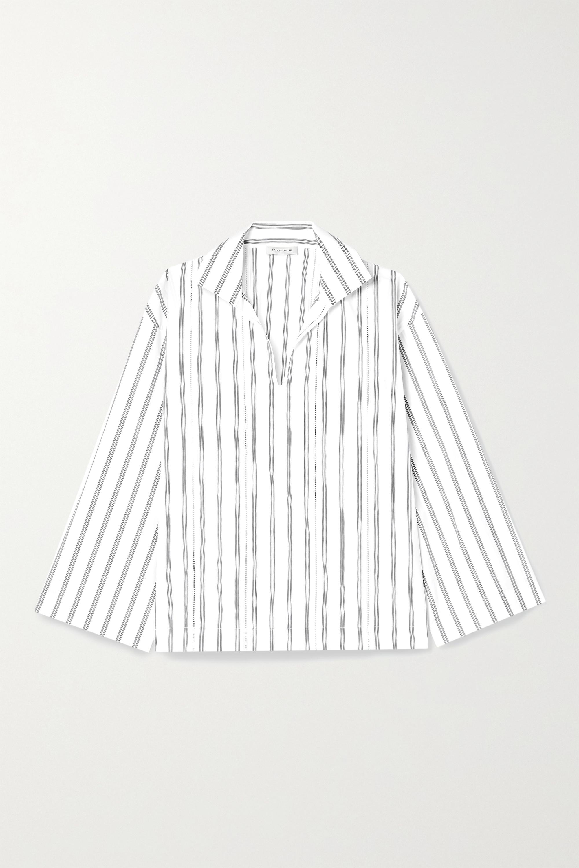 Lafayette 148 Dales Hemd aus Biobaumwollpopeline mit Nadelstreifen