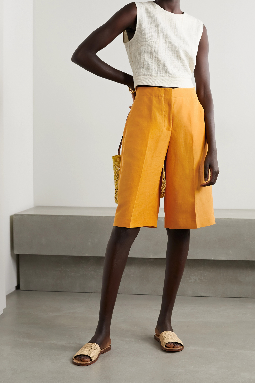 Lafayette 148 Ryerson Shorts aus einer Seiden-Leinenmischung