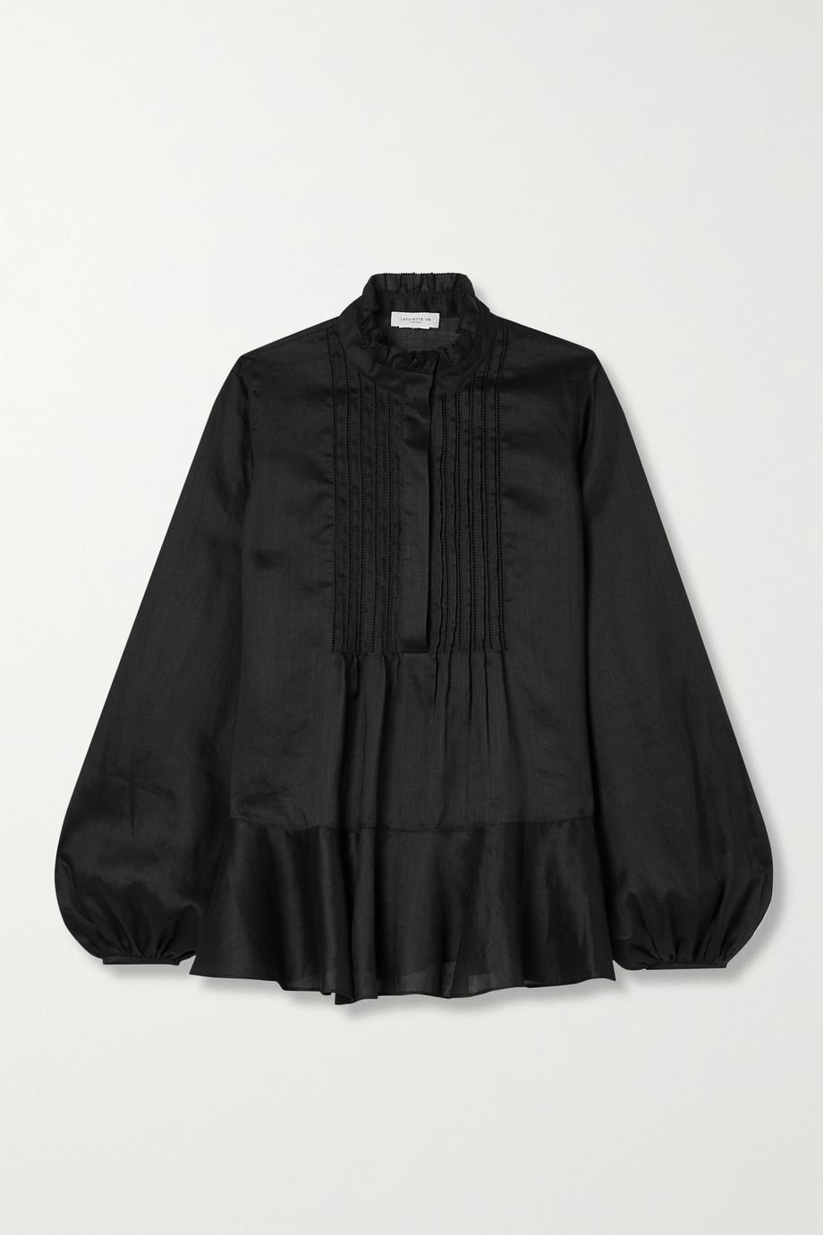 Lafayette 148 Raines Bluse aus einer Mischung aus Ramie und Tencel™ Lyocell mit Rüschen