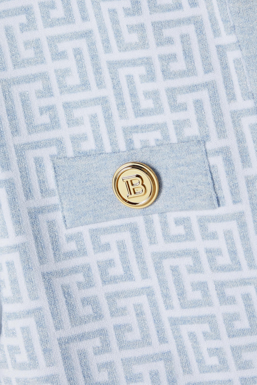 Balmain Cardigan en mailles jacquard métallisées à boutons
