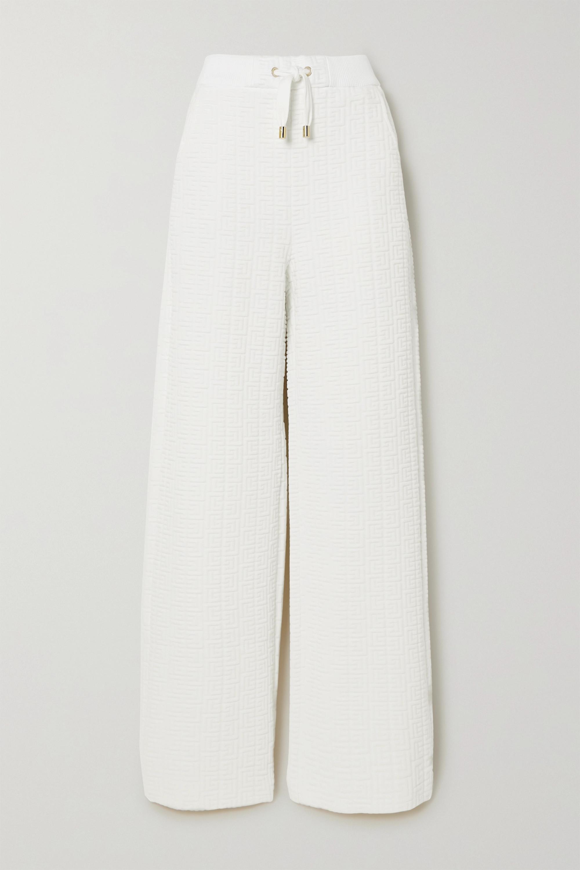 Balmain Pantalon de survêtement en jersey gaufré