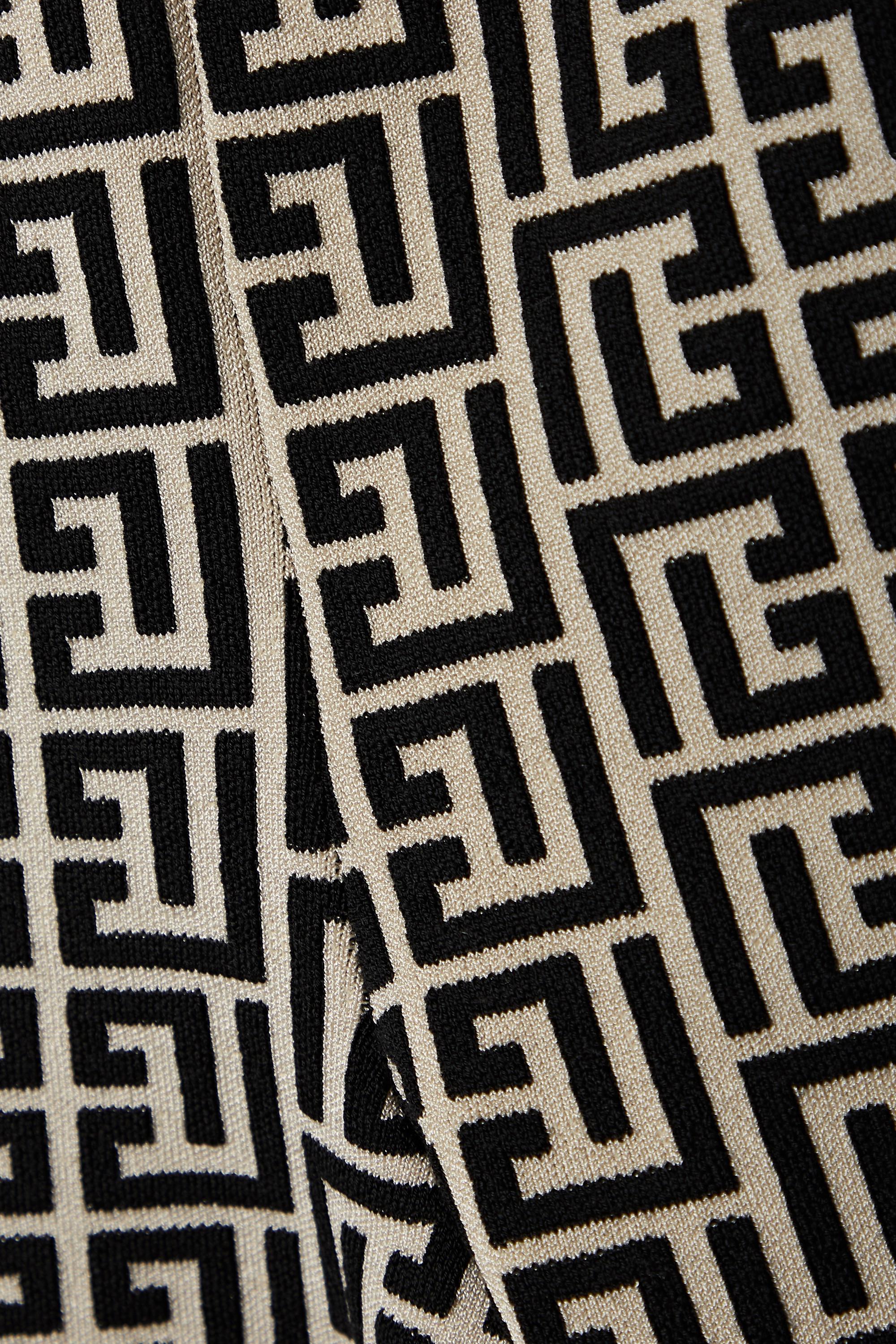 Balmain Short en mailles jacquard de laine mélangée