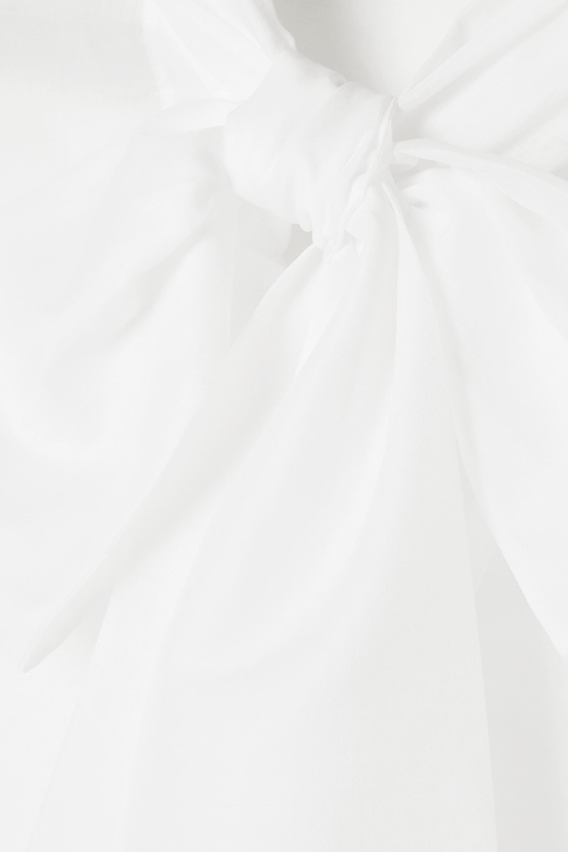 Balmain Blouse en voile de coton à nœud lavallière