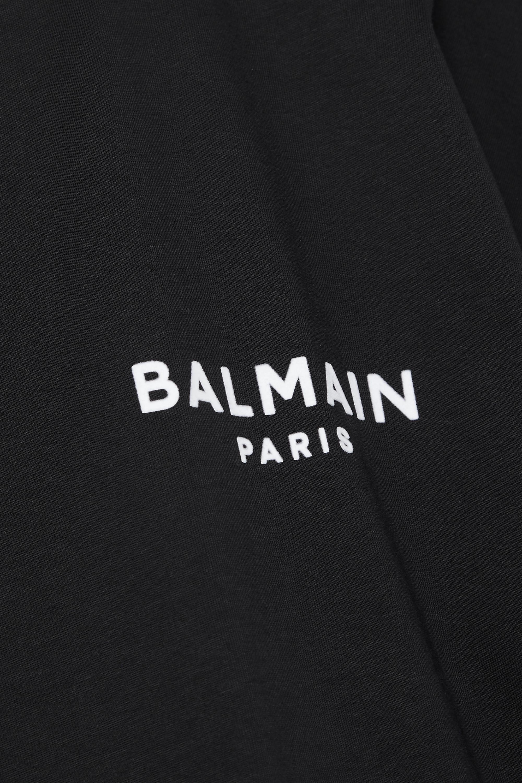 Balmain T-shirt raccourci en jersey de coton floqué