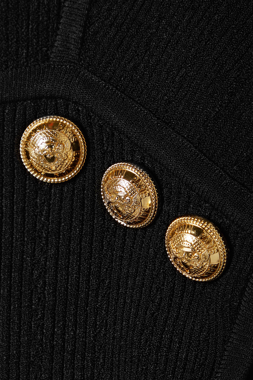 Balmain Haut en mailles côtelées à boutons