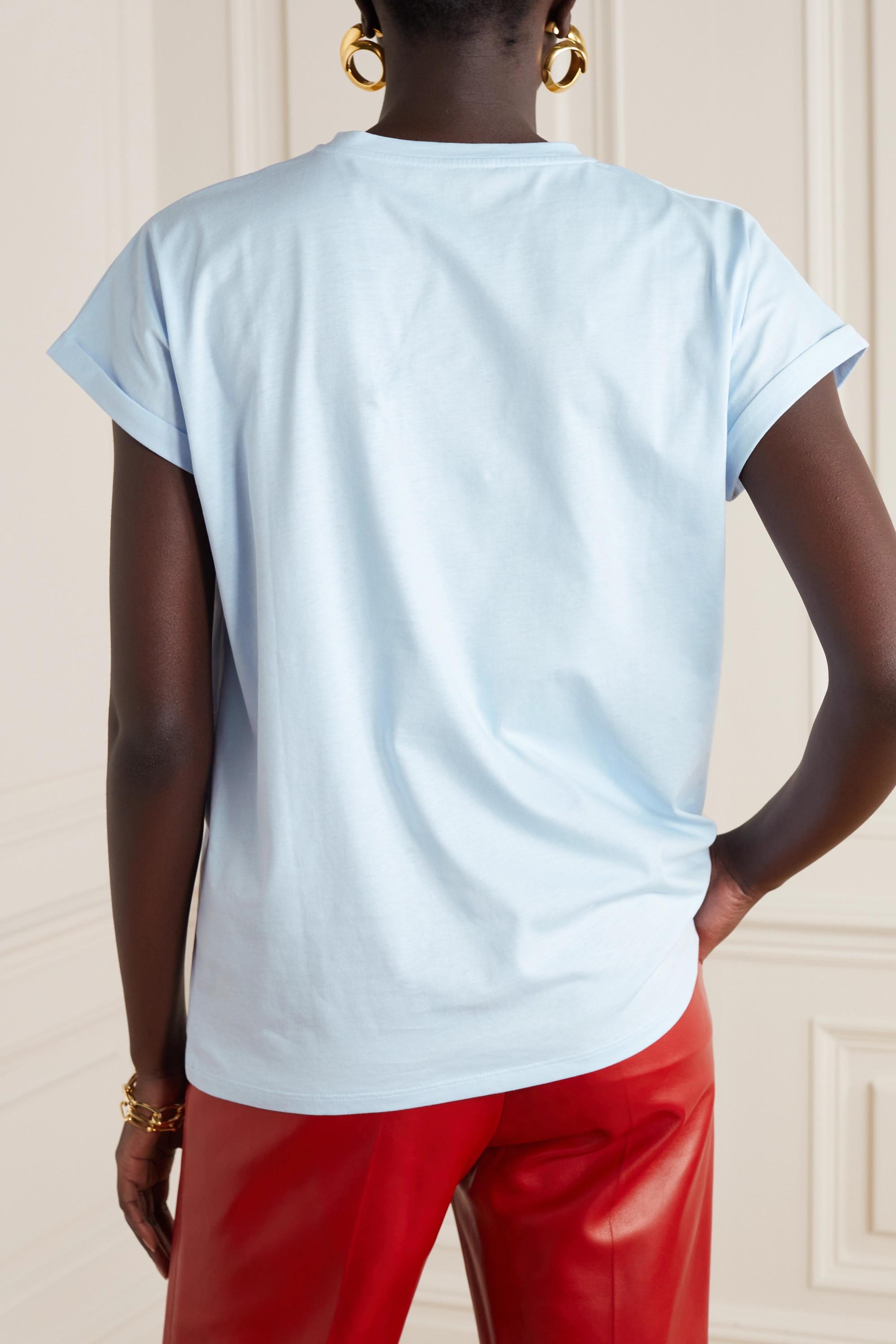 Balmain T-shirt en jersey de coton floqué