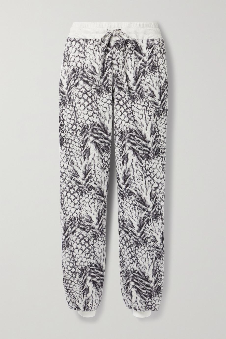 TWENTY Montréal Pineapple Hyper Reality jacquard-knit cotton-blend track pants