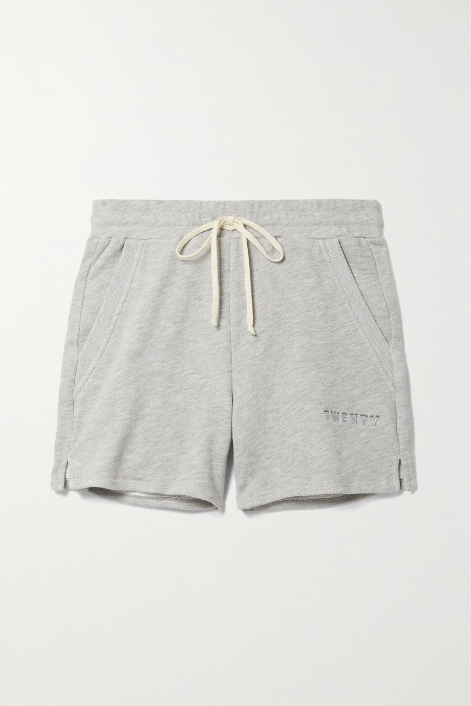 TWENTY Montréal Sunnyside cotton-blend jersey shorts