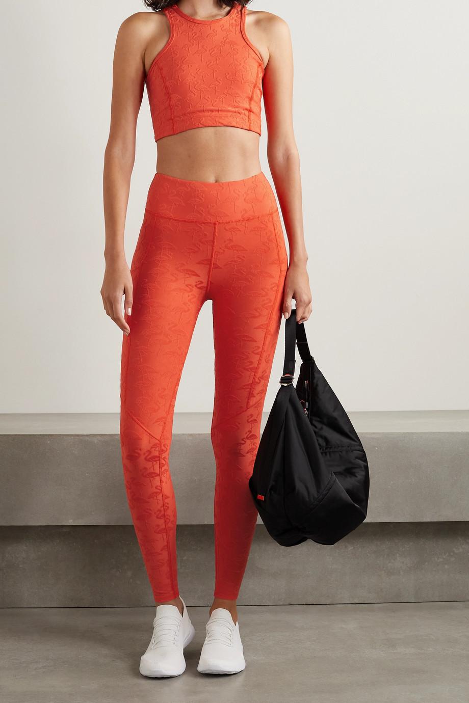 TWENTY Montréal Flamingo stretch-jacquard leggings