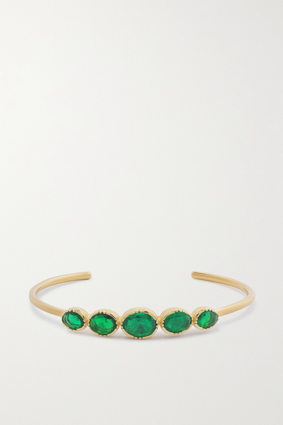 Brooke Gregson Orbit 18-karat gold emerald cuff