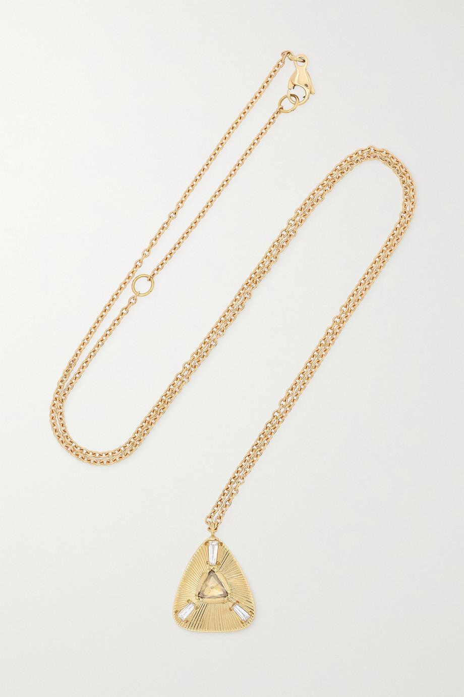 Brooke Gregson Ellipse 18-karat gold diamond necklace