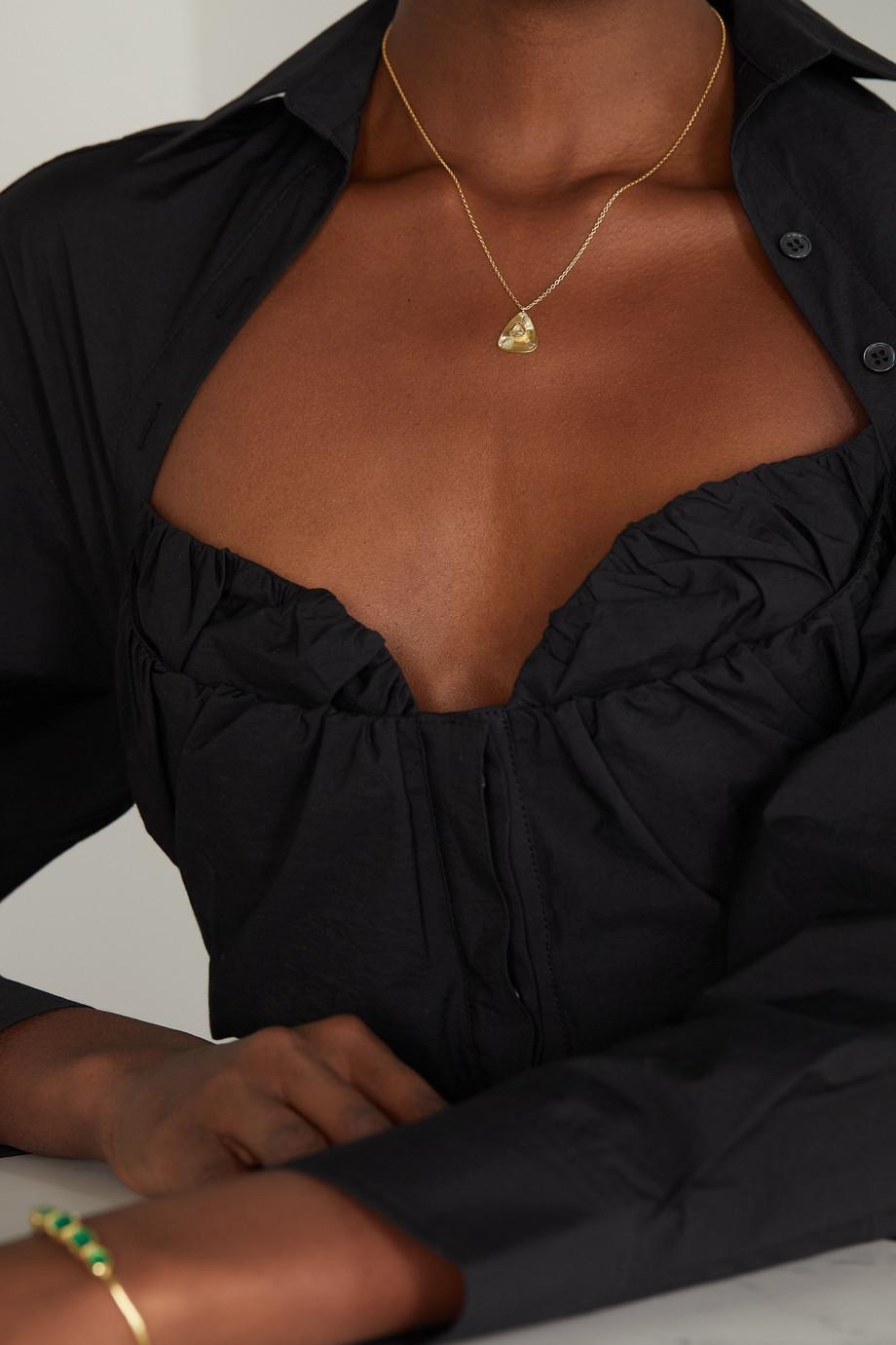 Brooke Gregson Ellipse Kette aus 18 Karat Gold mit Diamanten