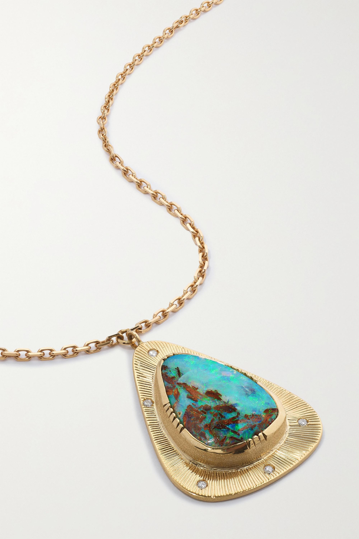 Brooke Gregson Starlight 18-karat gold, opal and diamond necklace