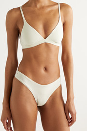 SKIMS Cotton Collection 2.0 cotton-blend jersey bralette - Bone