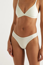 SKIMS Cotton Collection 2.0 cotton-blend jersey thong - Bone