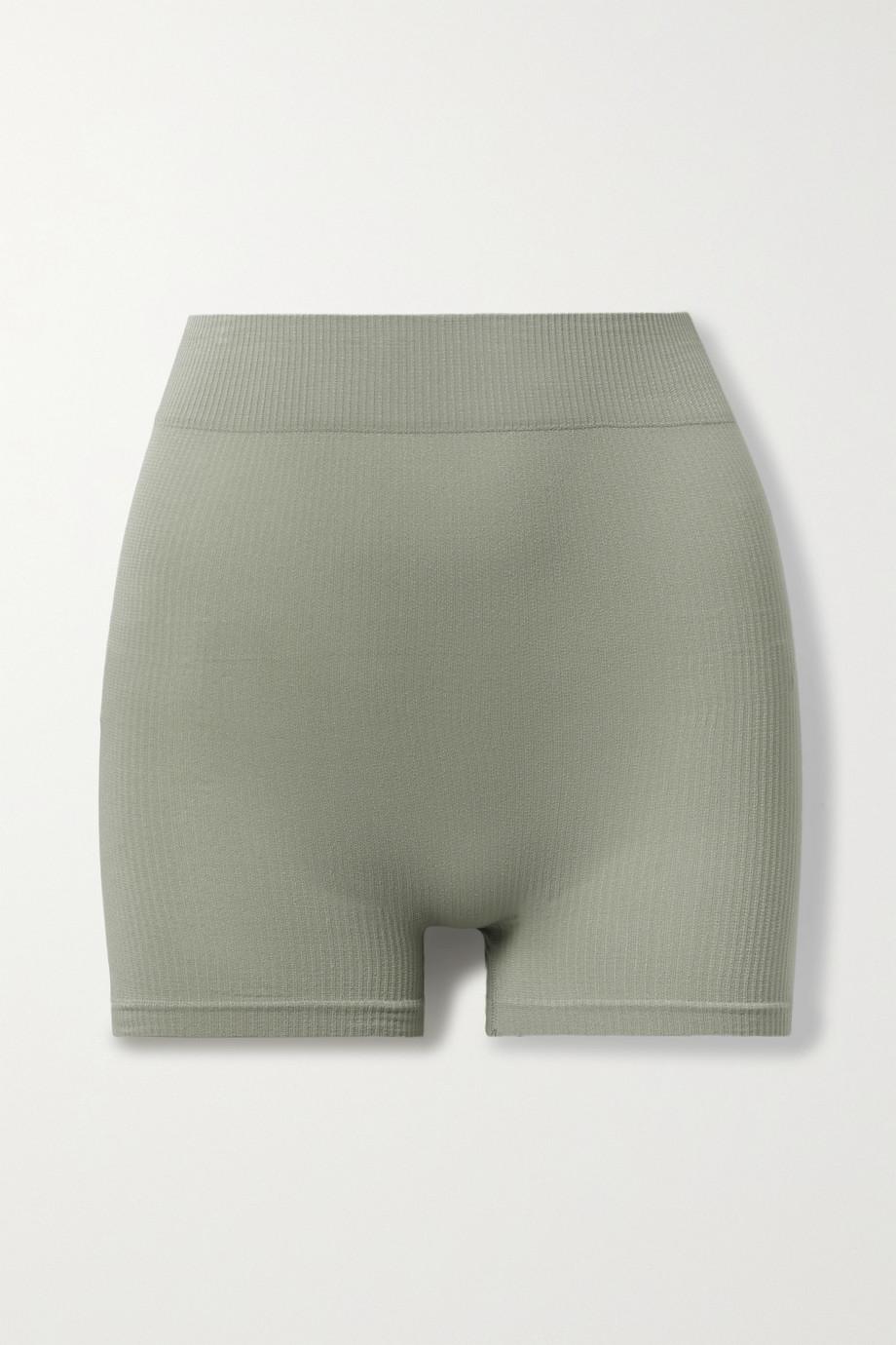 SKIMS Stretch Rib Shorts – Sea Haze – Höschen