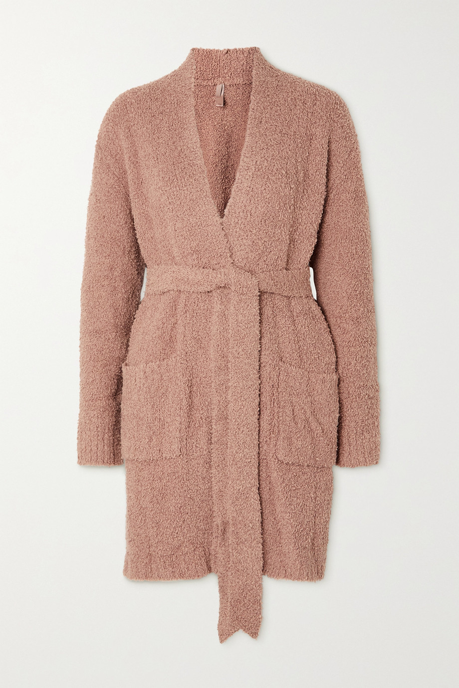 SKIMS Cozy Knit Robe – Rose Clay – Morgenmantel aus Bouclé