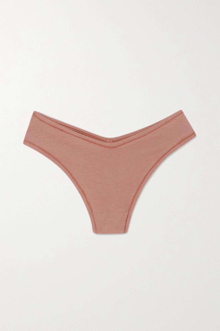 SKIMS Cotton Jersey Dipped Thong – Rose Clay – String aus Jersey aus einer Baumwollmischung