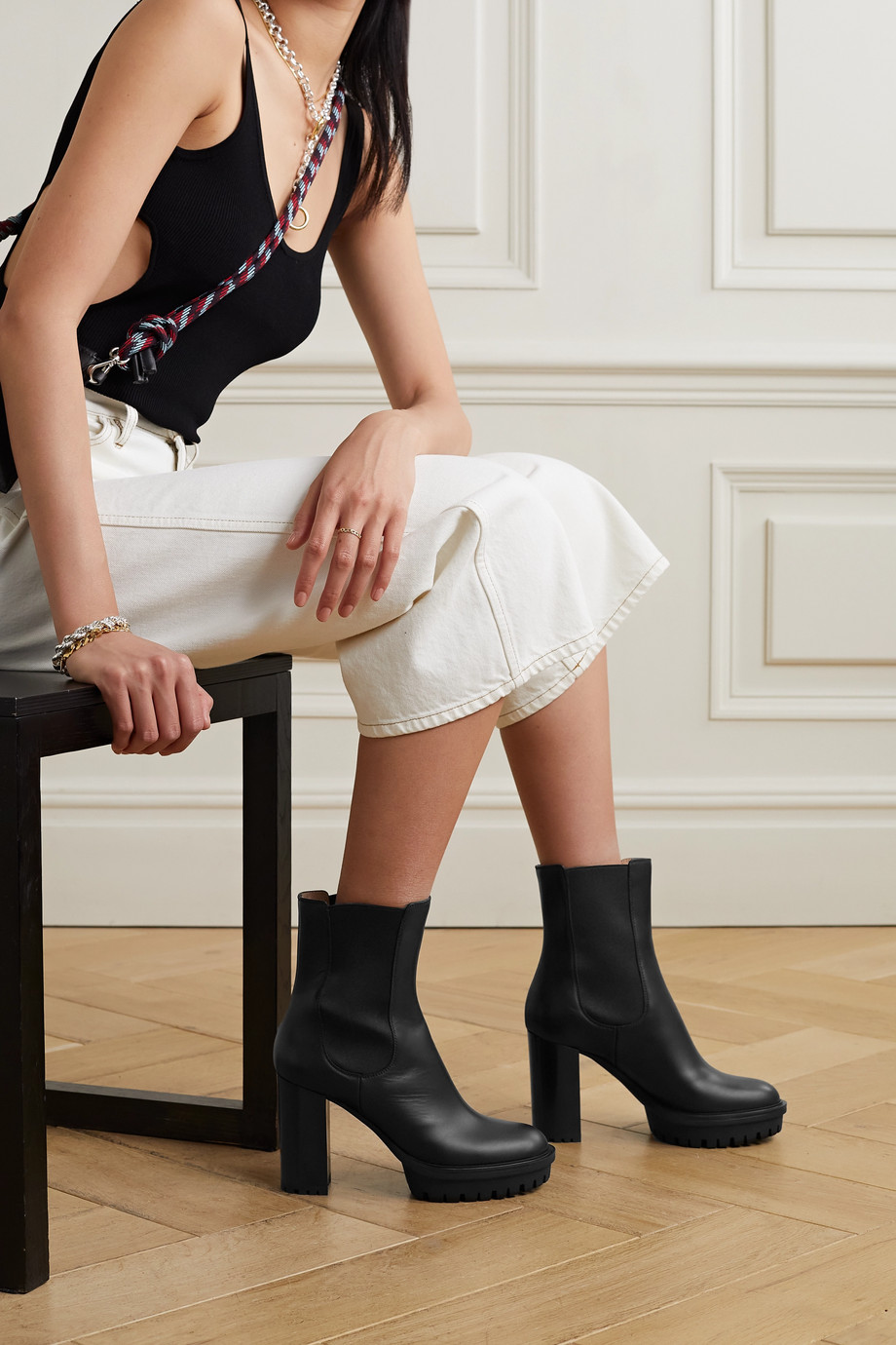 Gianvito Rossi Chester 70 leather ankle boots