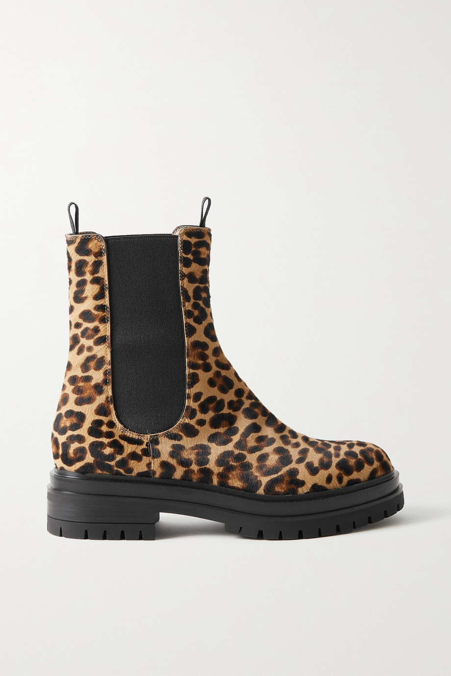 Gianvito Rossi Chester leopard-print calf hair Chelsea boots