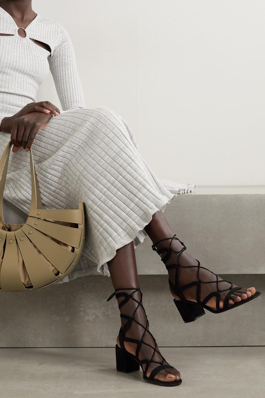Gianvito Rossi Artemis 60 lace-up suede sandals