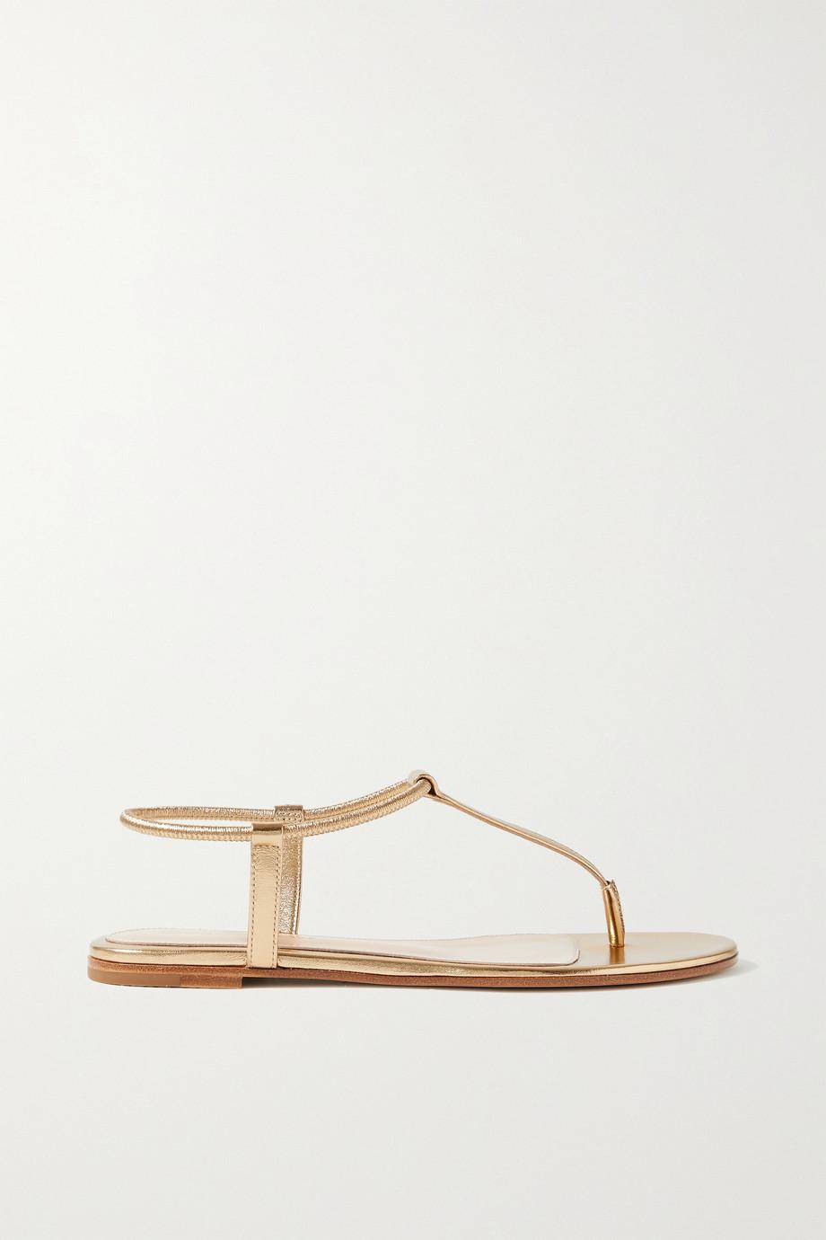 Gianvito Rossi Jaey metallic leather sandals