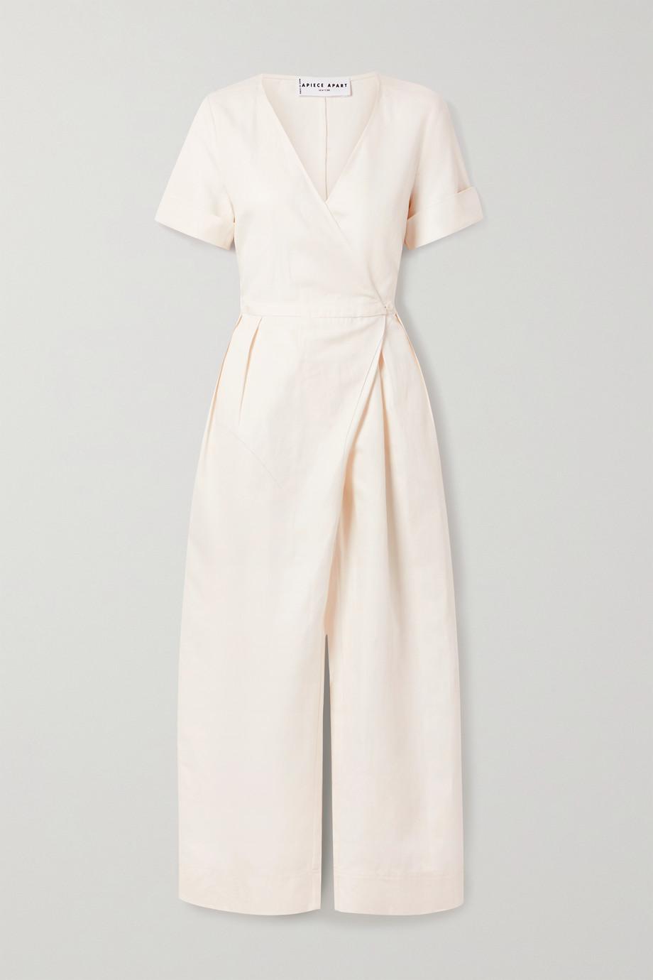 APIECE APART Tambor linen and cotton-blend twill wrap jumpsuit