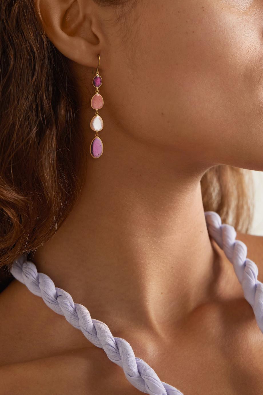 Pippa Small 18-karat gold multi-stone earrings