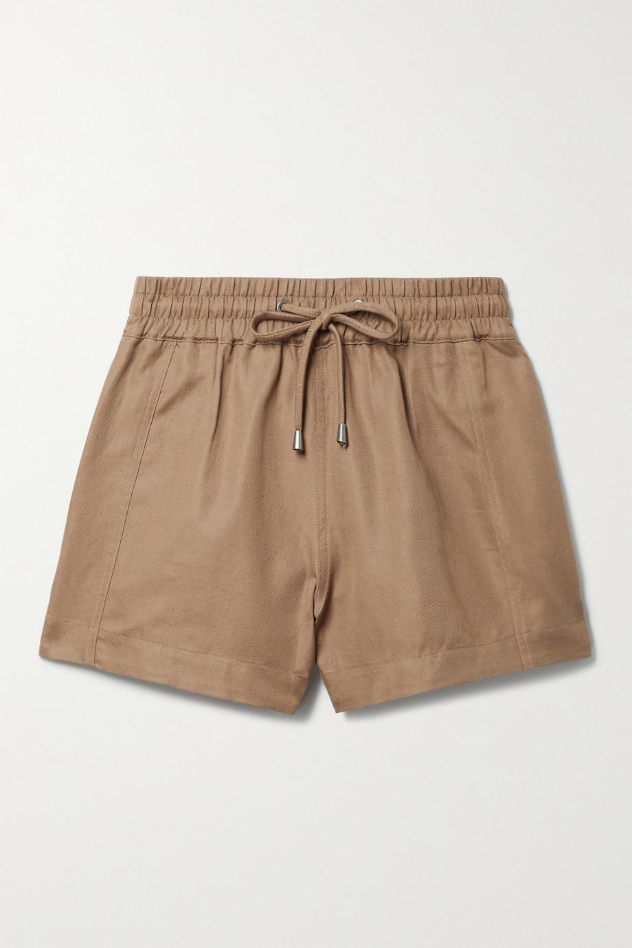 APIECE APART Trail linen and cotton-blend twill shorts
