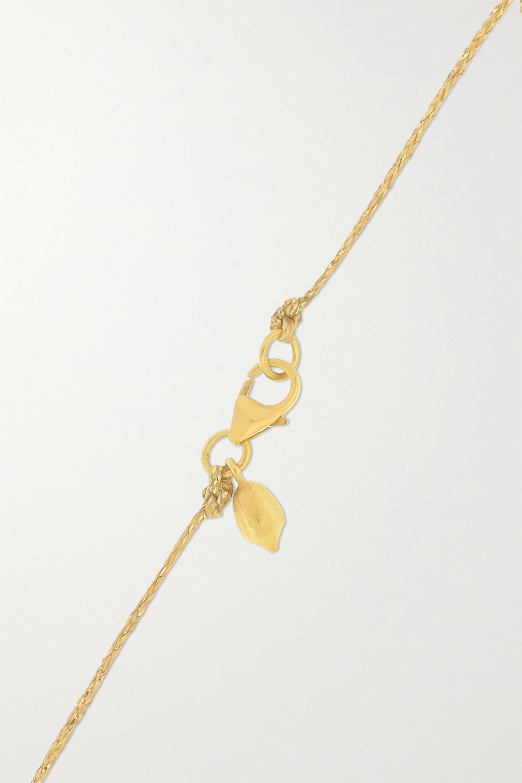 Pippa Small 18-karat gold tourmaline necklace