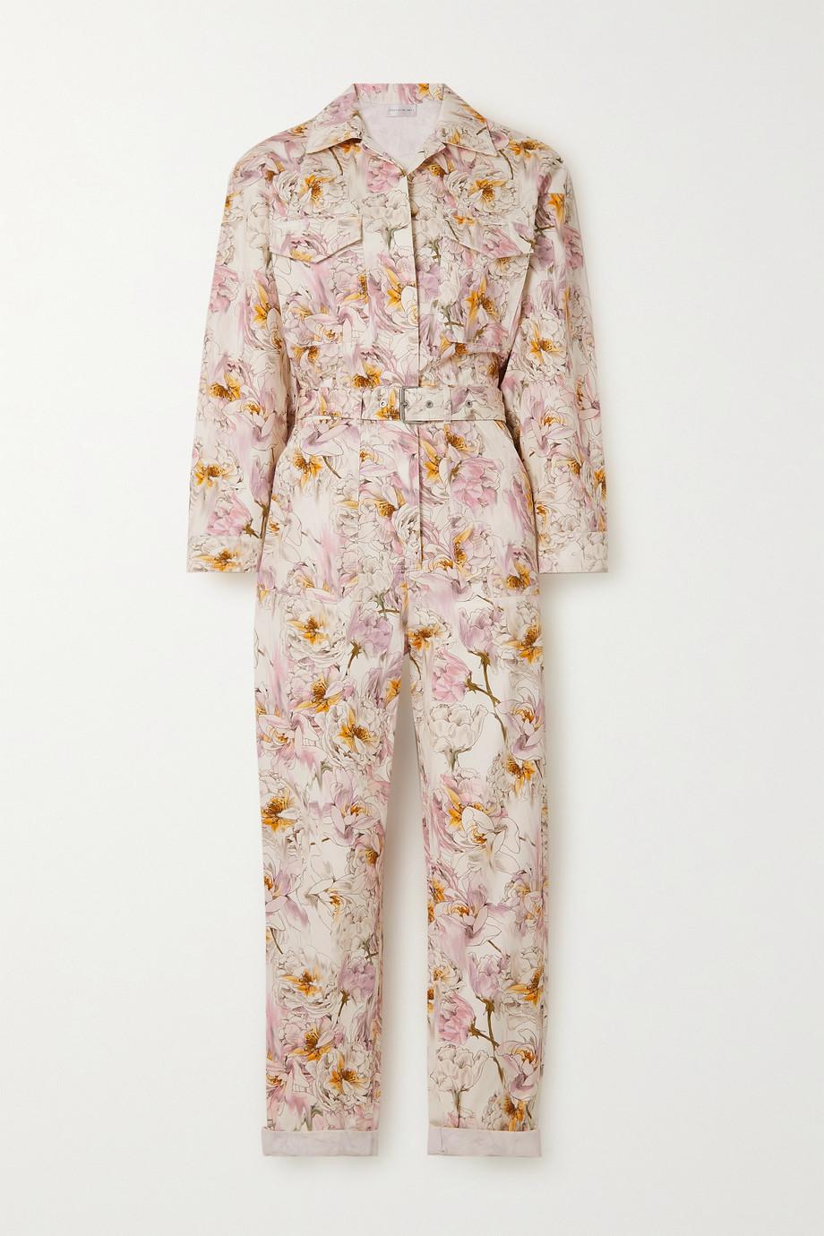 Rebecca Vallance Combi-pantalon en serge de coton à imprimé fleuri et à ceinture Fleur du Mal