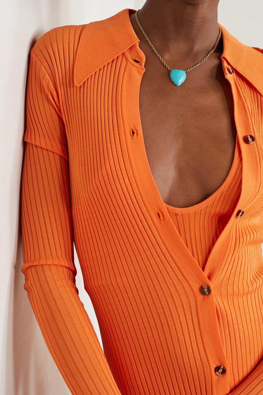 Irene Neuwirth Love 18-karat gold turquoise necklace