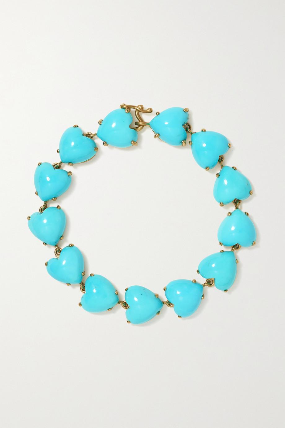 Irene Neuwirth Love 18-karat gold turquoise bracelet
