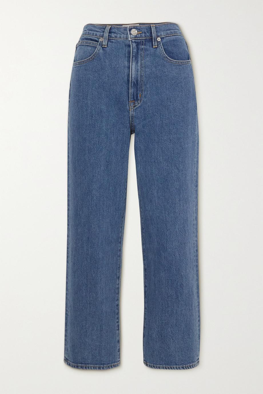 SLVRLAKE + NET SUSTAIN London verkürzte, hoch sitzende Jeans mit geradem Bein