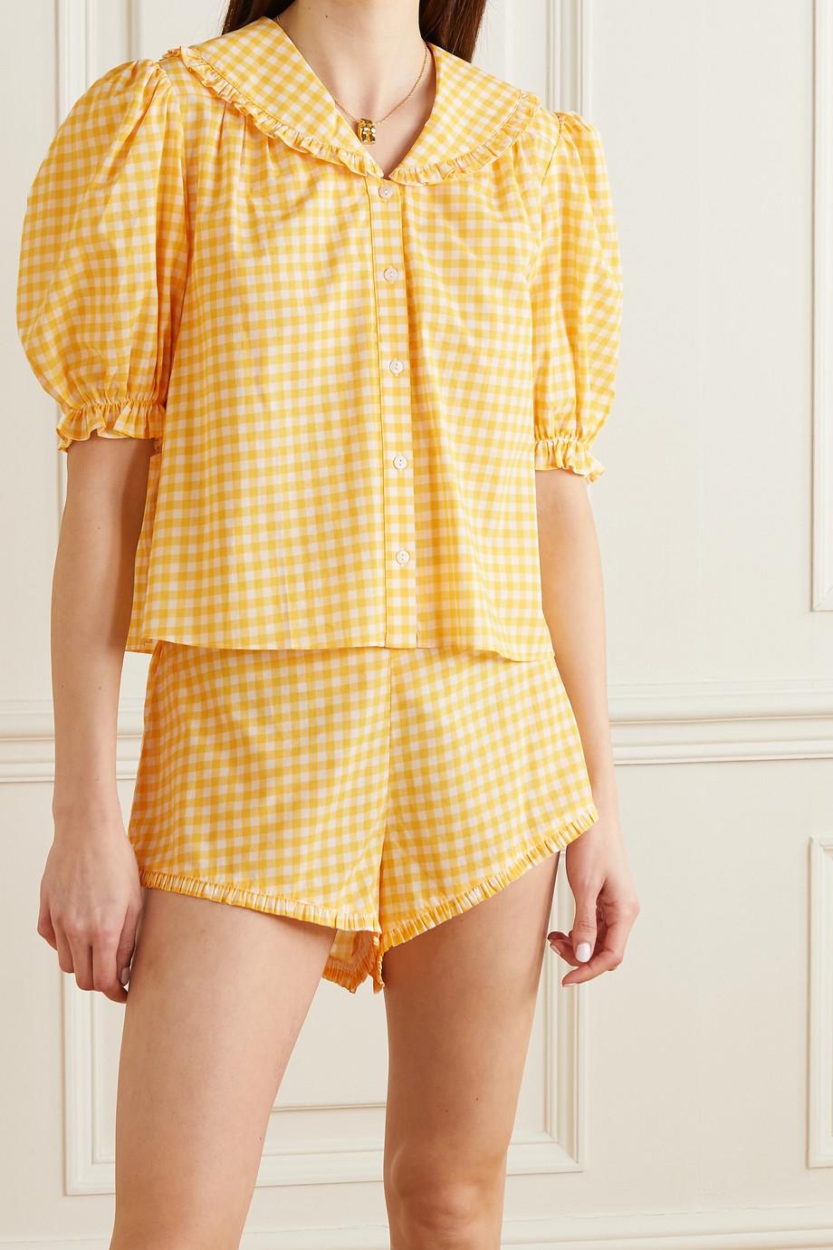 RIXO Alva ruffled gingham cotton-poplin pajama set