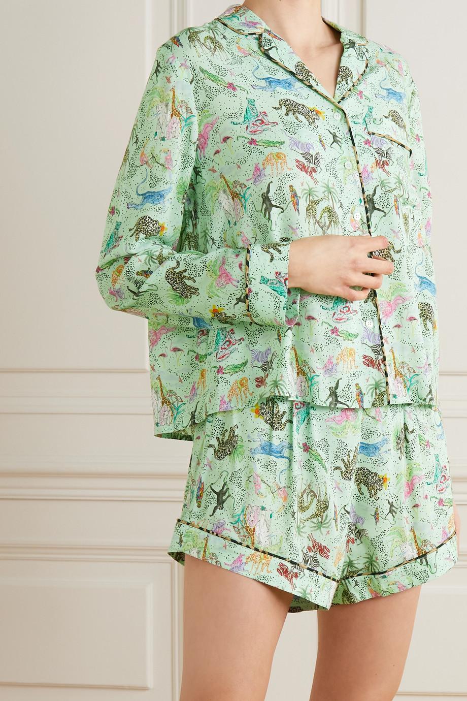 RIXO Mansi printed woven pajama set
