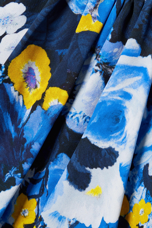 Lela Rose Robe midi en georgette à imprimé fleuri