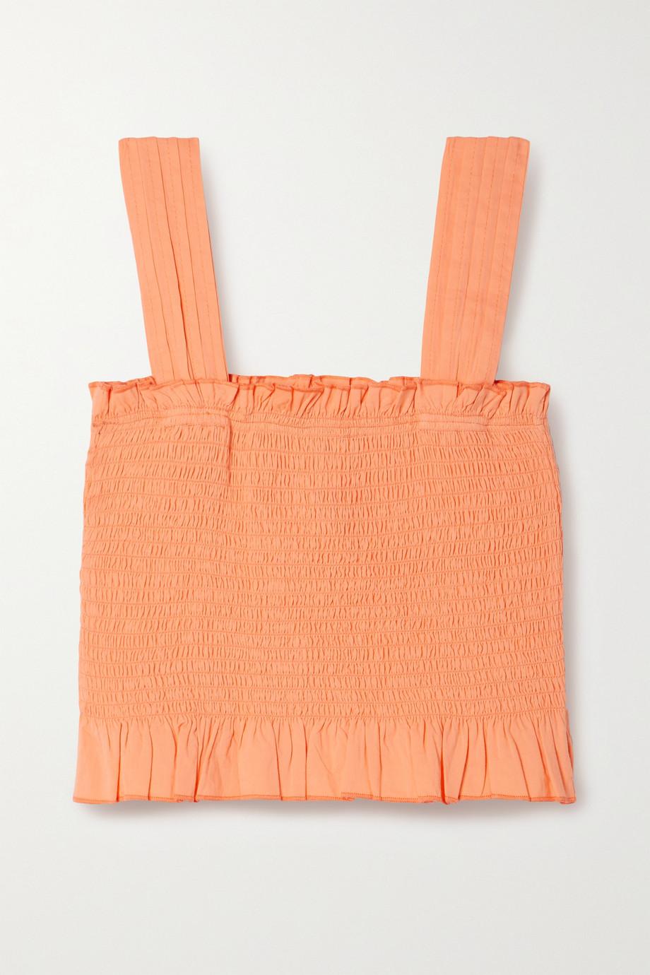 Solid & Striped Haut raccourci en coton à smocks The Phoebe